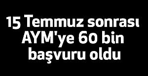 AYM'ye 60 Bin Başvuru