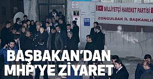 Başbakan Binali Yıldırım, Zonguldak  MHP İl Başkanlığını Ziyaret Etti