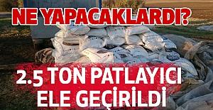 Diyarbakır'da Jandarma Operasyonunda 2.5 ton patlayıcı...