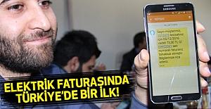 Elektrik Faturalarında Türkiye'de İlk Uygulama