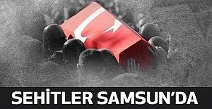 İki Şehit Askerin Cenazesi Samsun'da