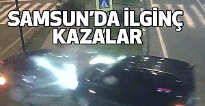 Samsun'da Kazalar Mobese'lere Böyle Yansıdı