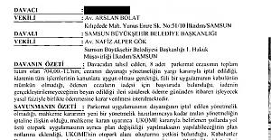 Samsun'da PARKOMAT Uygulamasının  Hukuksuzluğu Tescillendi!