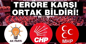 Siyasi Partilerden Teröre Karşı Ortak Bildiri