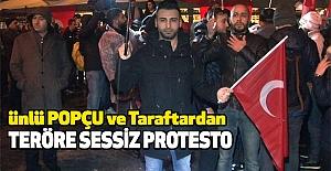 Ünlü Popçu ve Taraftardan Teröre Sessiz Protesto