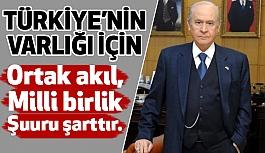 Devlet Bahçeli: Türk Milletinin Tamamı Namlunun Ucundadır