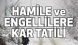 Engelli ve Hamile Personele Kar Tatili