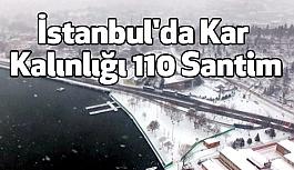 İstanbul'da Kar Kalınlığı 110 Santim