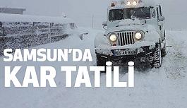 Samsun'da Kar Tatili