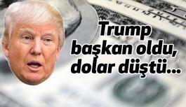 Trump Başkan Oldu, Dolar Düştü