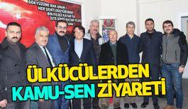 Ülkü Ocakları Türkiye Kamu-Sen'i Ziyaret Etti