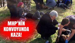 MHP konvoyunda Taklalı kaza