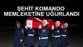 Şehit komando Mesut Yaşar memleketine uğurlandı
