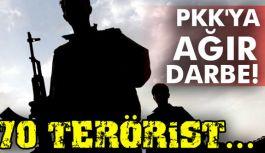 70 terörist etkisiz hale getirildi