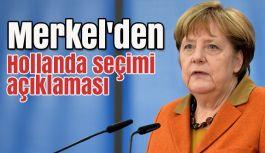 Almanya Başbakanı Merkel'den Hollanda seçimi açıklaması