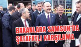 Bakanlara Samsun'da Konvoylu Karşılama