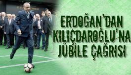 Erdoğan'dan, CHP Lideri Kılıçdaroğlu'na jübile çağrısı