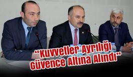 Erhan Usta; Kuvvetler Ayrılığı Güvence Altına Alındı