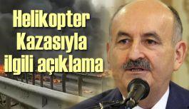 İstanbul'da Düşen Helikopter Kazasıyla ilgili açıklama
