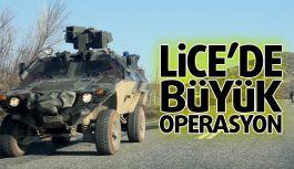 Lice'de 4 Tabur Asker ve 40 TİM'le Büyük Operasyon