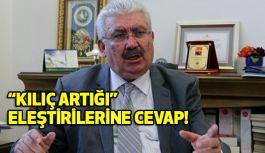 """MHP'li Yalçın; """"Kılıç Artığı"""" Eleştirilerine cevap verdi"""