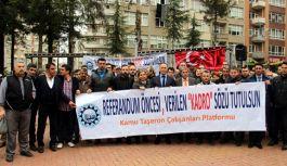 Samsun'da Taşeron işçilerden eylem!