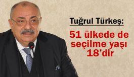 Tuğrul Türkeş; 51 Ülkede Seçilme Yaşı 18