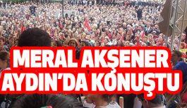 Akşener, Aydın'da Vatandaşlara konuştu