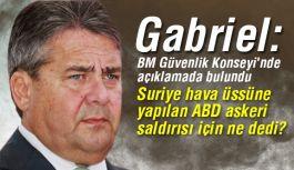 """Alman Bakan Gabriel: """"ABD'nin Suriye saldırısına Ne Dedi?"""