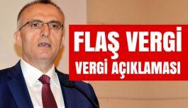 Bakan Ağbal'dan Flaş Vergi Açıklaması