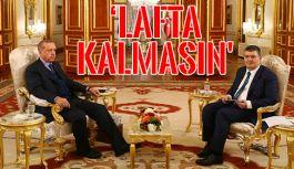 Erdoğan: 'Trump'ın açıklamaları lafta kalmasın'