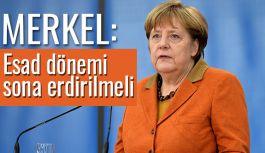 Merkel; Beşar Esad dönemi sona ermeli