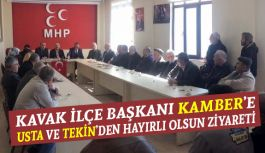 MHP'li Usta ve Tekin'den Kavak Ziyareti