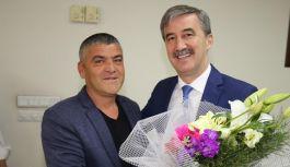 Muhtarlardan Başkan Şirin'e Teşekkür Ziyareti