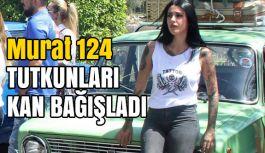 """""""Murat 124"""" tutkunları kan bağışına konvoyla geldiler"""