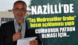 """Nazilli'de Eski Ülkücü """"Taş Medreseliler Grubu"""" basın açıklaması yaptı"""
