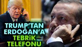 Trump'tan, Erdoğan'a tebrik telefonu