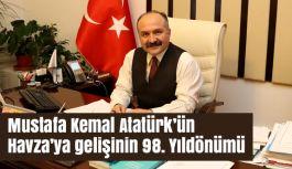 Erhan Usta, Atatürk'ün Havza'ya gelişinin 98. Yıldönümü Mesajı yayınladı