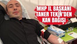 MHP'li Taner Tekin Kan Bağışı Kampanyasına Katıldı