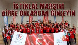 Samsun'da, İşitme Engelli Çocuklardan İstiklal Marşı...