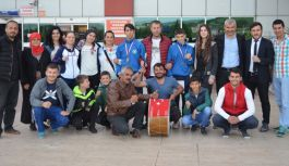 Türkiye Şampiyonları Samsunda karşılandı