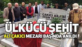 Ülkücü Şehit Ali Çakıcı Mezarı Başında Anıldı