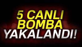 5 canlı bomba yakalandı