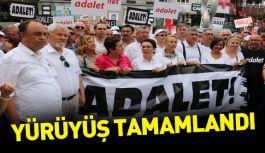 CHP'nin yürüyüşü tamamlandı