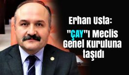 """Erhan USTA """"ÇAY""""ı Meclis Genel Kuruluna taşıdı"""