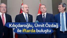 Kılıçdaroğlu, Ümit Özdağ ile iftarda buluştu