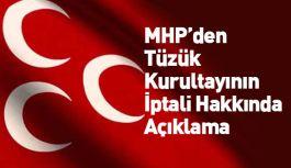 MHP'den, Tüzük Kurultayının İptali Hakkında Açıklama