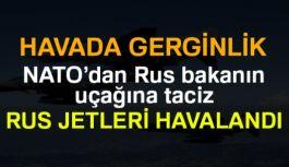 Rus bakanın uçağına taciz