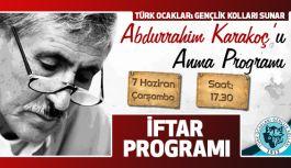 Türk Ocakları Gençlik Kolları Abdurrahim Karakoç'u Anıyor