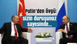 Erdoğan'la Yeniden Bir Araya Gelen Putin'den Övgü